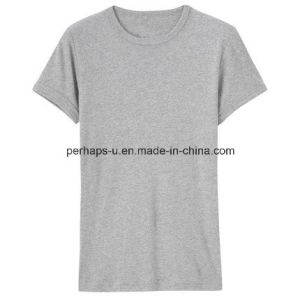 Custom Round Neck Pure Color Cotton Mens T-Shirt pictures & photos