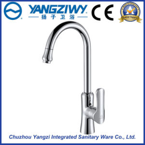 Chrome Plated Waterfall Kitchen Faucet (YZ5204) pictures & photos