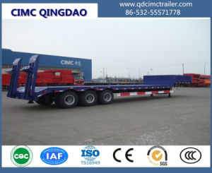 Cimc 3 Axles 50-80 Tons Lowbed Semi Truck Trailer pictures & photos