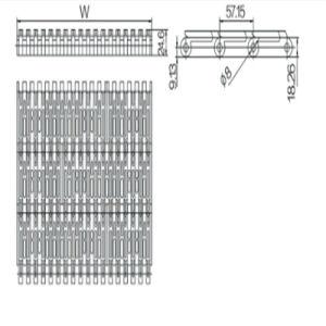 57.15mm Pitch Modular Belt (WZ-5997) pictures & photos