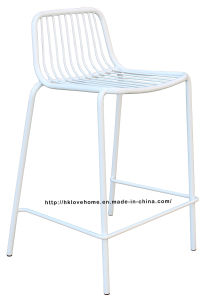Modern Metal Dining Stackable Side Bar Wire Chair pictures & photos