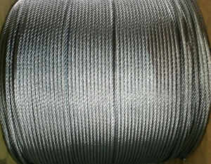 6X12+7FC Galvanized and Ungalvanized Steel Wire Rope pictures & photos