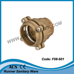 Brass Compression Fitting for PE Pipe (F07-101) pictures & photos