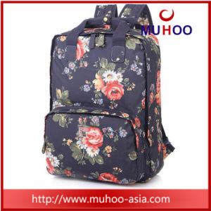 Fashion Flower Handbag Laptop School Bag Travel Backpacks for Outdoor pictures & photos