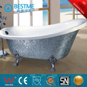 Hot Saling Silver Color Clawfoot Simple Art Bathtub (BT-Y6305D) pictures & photos