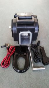 Electric Boat Winch with Hand Crank/Switch/Wire Rope/Hook pictures & photos