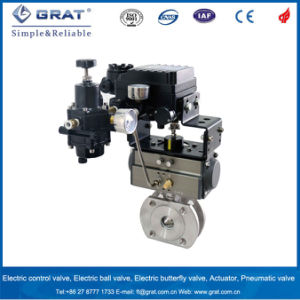 Single Action Thin Model Pneumatic Proportional Ball Valve pictures & photos