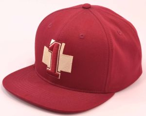 3D Embroidery Red Cotton Flat Brim Sports Snapback Baseball Cap pictures & photos