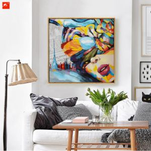 Modern Decoration Oil Painting of Beautiful Girl pictures & photos