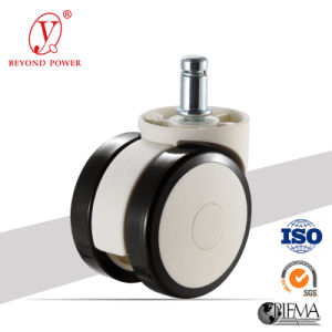 60mm PVC Office Chair Wheel Castor    Casters Furniture Caster Wheel White Chair Caster pictures & photos