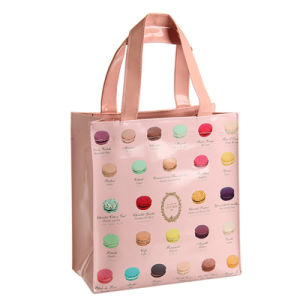 Two Sizes Macaron Patterns Waterproof PVC Tote Bag (A068) pictures & photos