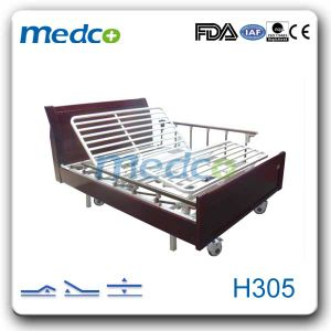 Ce & ISO Home Nursing Bed, Mobile Three Functions Electric Home Care Bed for Elder pictures & photos