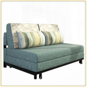 Fabric Sofa Bed Steel Frame Sofa Bed (192*180cm) pictures & photos