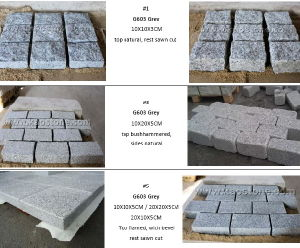 G603 Granite Cobblestone Outdoor Paver for Driveway, Patio, Garden, Landscape pictures & photos