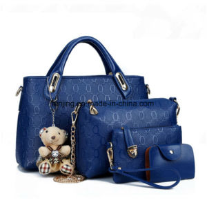 Bw262 New Fashion Colorful Tote Handbags Women PU Bag Set pictures & photos