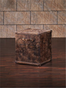 Antique Leather Trunk Set, Vintage Home Good Container Trunk pictures & photos