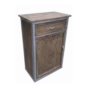 Antique Natural Tin&Wood Mixed Material Cabinet Furniture pictures & photos