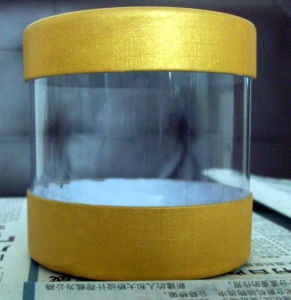 Promotion Tube Round Paper Clear Plastic Gift Packaging Box (cylinder box) pictures & photos