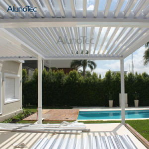 Metal Motorized Waterproof Pergola Aluminium Patio Cover