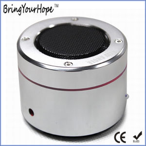 Cylinder Metal Shell Microsd Card Play USB Mini Speaker (XH-PS-015) pictures & photos