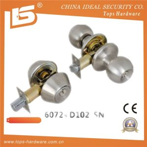 Zinc Alloy Door Knob Cylindrical Lock 6072 D102 Sn pictures & photos