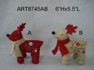 """9.5""""Hx8""""L Cute Handstitched Knitted Reindeer W/ Bendable Legs-Christmas Decoration pictures & photos"""