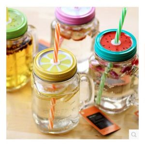 4 Sizes Stainless Steel Lid, Square Glass Mason Jars pictures & photos