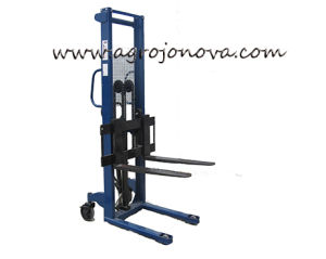 Hydraulic Hand Forklift Pallet Stacker Jo with Ce pictures & photos