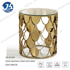 New Design Laser Cutting Stainless Steel Furniture Coffee Table pictures & photos