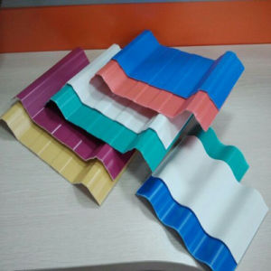 Unbreakable Material China Supplier Color Coated Corrugated Plastic Roofing Sheet pictures & photos