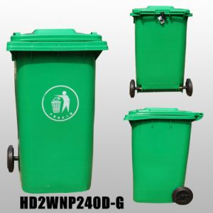 240 Liter Plastic Waste Bin (plastic dustbin) with En840 pictures & photos