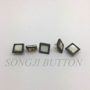 New Design Fashion Square Pearl Prong Snap Button pictures & photos