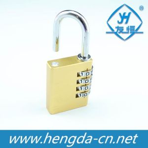Yh1234 4 Digits Resettable Travel Luggage Combination Brass Lock pictures & photos