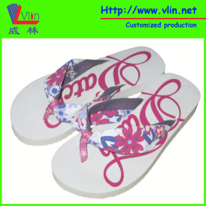 Fabric Strap EVA Women Sandal with Italian Brand pictures & photos