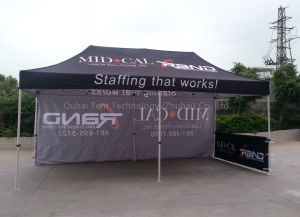 3X6m Steel Frame Folding Tent with Customized Logo Printing
