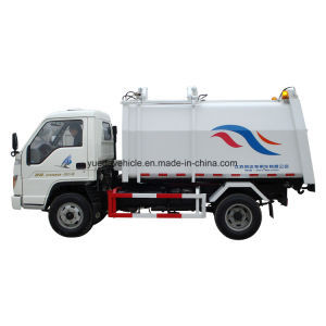 China Small Side Loading Garbage Truck pictures & photos