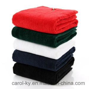 Soft Touch Feeling Cut Velvet 100% Cotton Absorbent Golf Towel pictures & photos