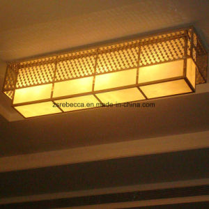 Hotel Decorative Multilayer Square Yellow Resin Ceiling Lighting pictures & photos