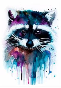 Watercolour Cute Raccoon Temporary Tattoo Sticker Art Tattoo Sticker pictures & photos