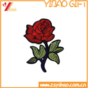Custom Embroidery Badge with Voven Patch with Hang Tag Embroidery Patches (YB-HR-392) pictures & photos