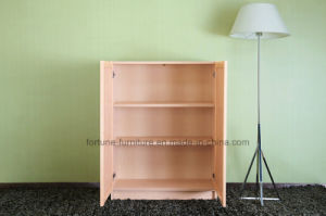 Modern Wooden Birch Veneer Clear Lacquer Bookcase with Doors (AD-FY-N707B-SJ) pictures & photos