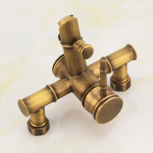 FLG Shower Faucet Mixer Tap with Ceramic Antique Brass pictures & photos