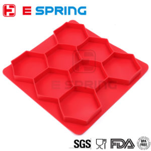 Round Silicone Burger Press with 5 Circular Divisions for Tasty and Healthy Patties That Easily Stacks for Freezer and Chiller Storage pictures & photos