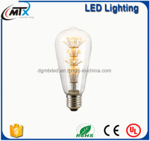 CE ST64 Warm White Energy Saving 3W LED Starry Bulb pictures & photos