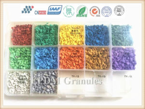 Rubber Floor Tile Materials Colored EPDM Rubber Granules pictures & photos