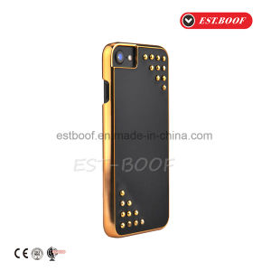 Leather Phone Case with Electroplate+Fashion Studs Design/iPhone Case pictures & photos