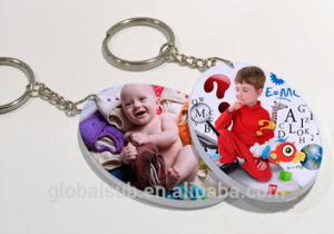 Photo Polymer Plastic Keychain with Picture Homemade Keyrings pictures & photos