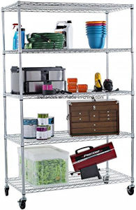 Chrome Restaurant Metal Kitchen Wire Shelving Rack pictures & photos