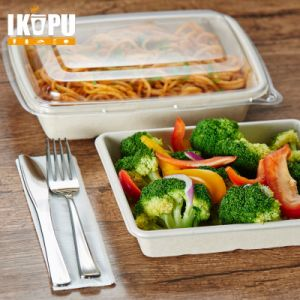 2-Compartment Microwave Safe Disposable Food Container pictures & photos