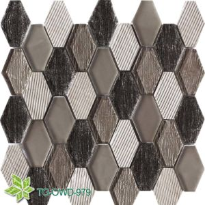 Long Hexagon Mosaic Stone (TG-OWD-979) pictures & photos